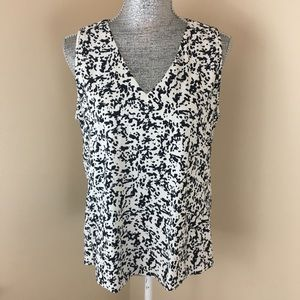 Tops - J. Crew Sleeveless cow print top size 10